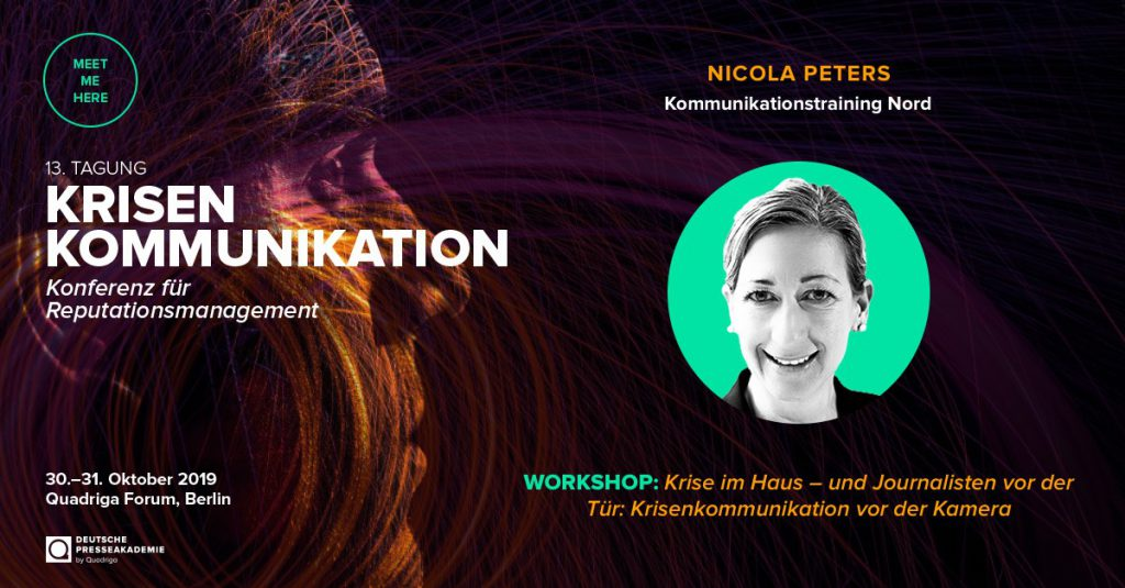 Nicola Peters als Speaker - Krisenkommunikation Konferenz Quadriga Forum 2019